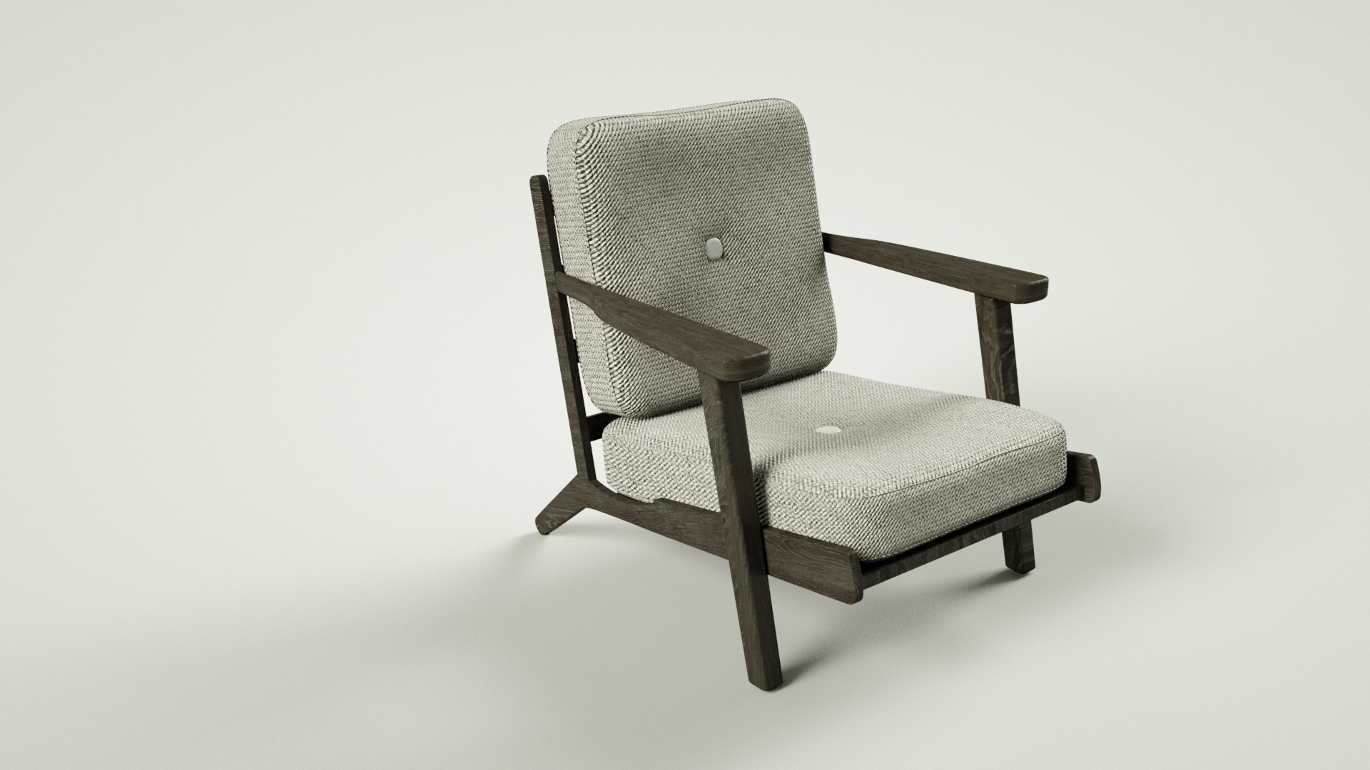 3D rendering of a chair in a forrest